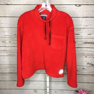 Nautica Competition Vintage Womens Cropped Fleece